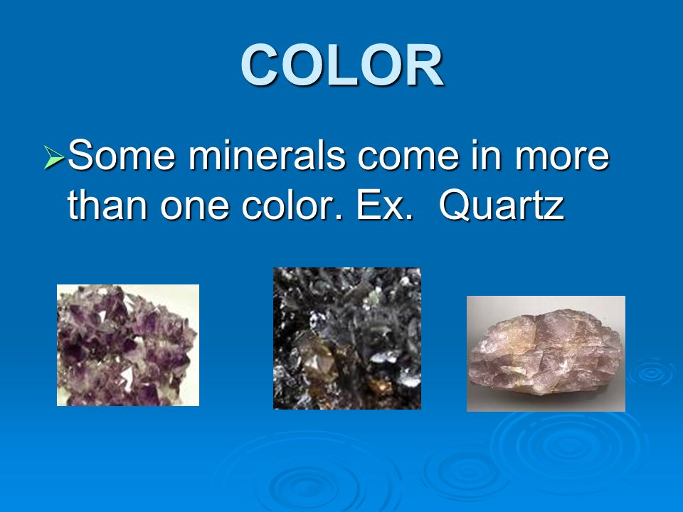 Mineral Identification - ppt video online download