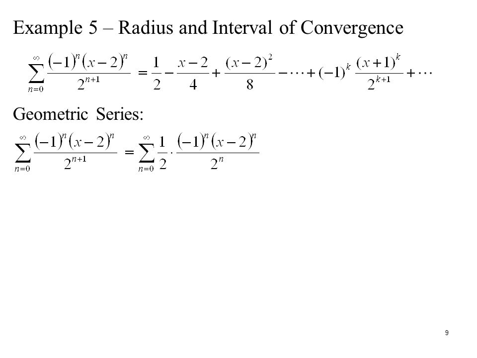 Lecture 29 – Power Series Def: The power series centered at