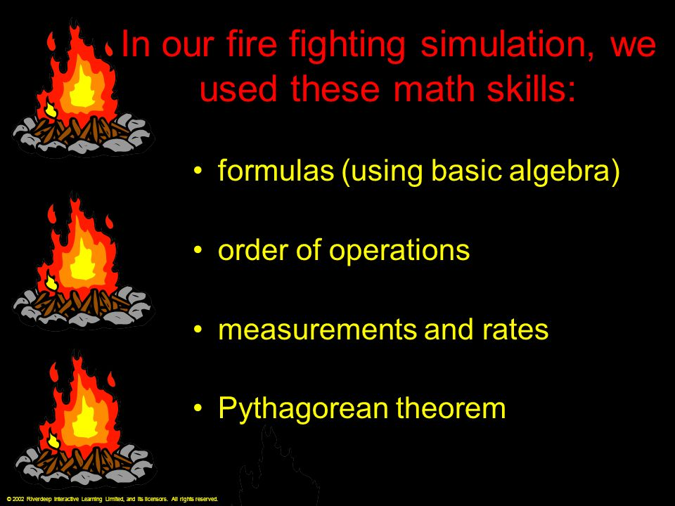 How do firefighters use math in fighting fires? by Dianne Buzzell ...