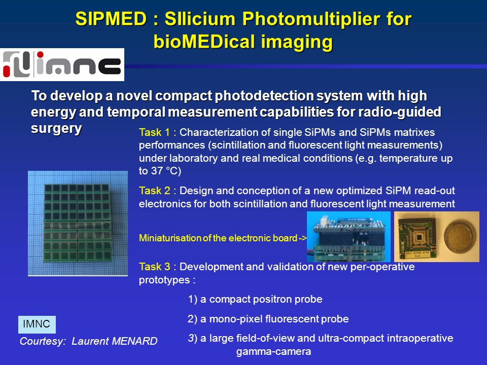 SIPMED : SIlicium Photomultiplier for bioMEDical imaging