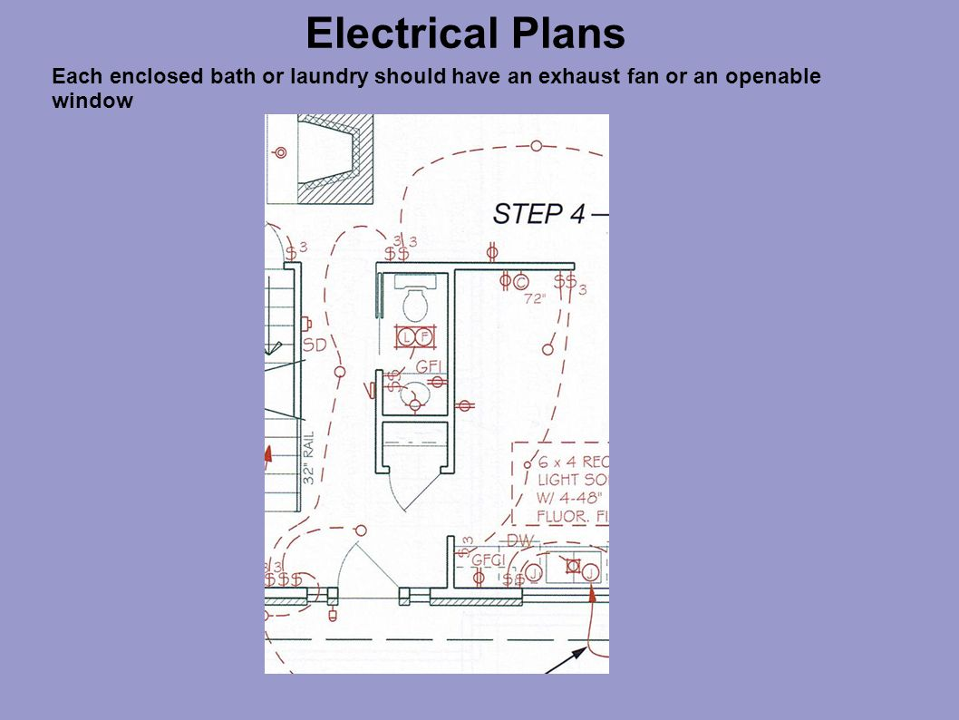Bd D F Ba F Cce E besides Electrical Plans Each Enclosed Bath Or Laundry Should Have An Exhaust Fan Or An Openable Window in addition Electrical Installation One Family Housing M D Dwg Block For Autocad further Elecwors Facility Electrical Schematics also . on electrical wiring symbols