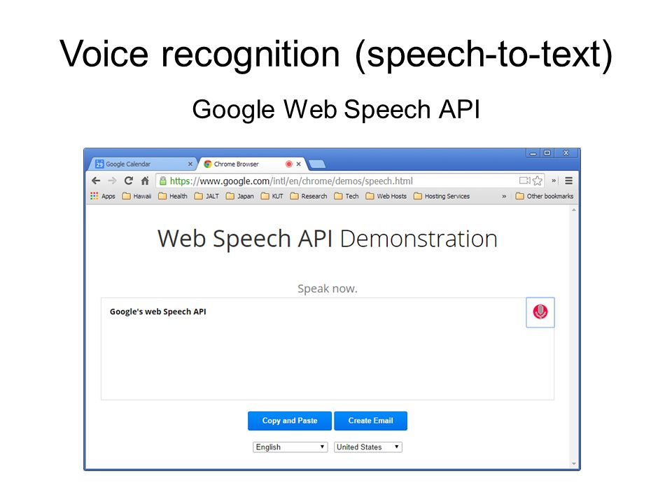 Using Google's Web Speech API with Moodle for language learning