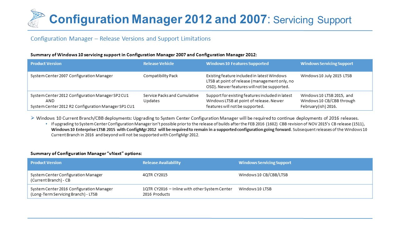 System Center Configuration Manager (as-a-Service) - ppt