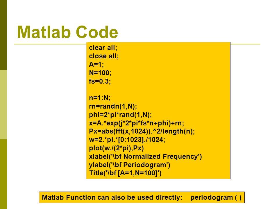 Lecture#10 Spectrum Estimation - ppt video online download