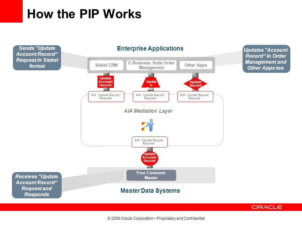 How the PIP Works Enterprise Applications Master Data Systems