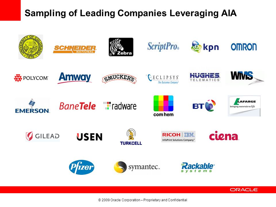 Sampling of Leading Companies Leveraging AIA