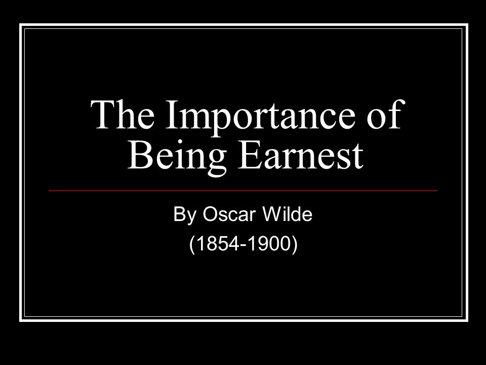 the importance of being victorian oscar This list of important quotations from the importance of being earnest by oscar wilde will help you work with the essay topics and thesis statements above by allowing you to support your claims.