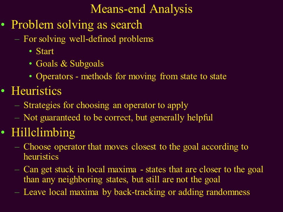 ways of solving problems