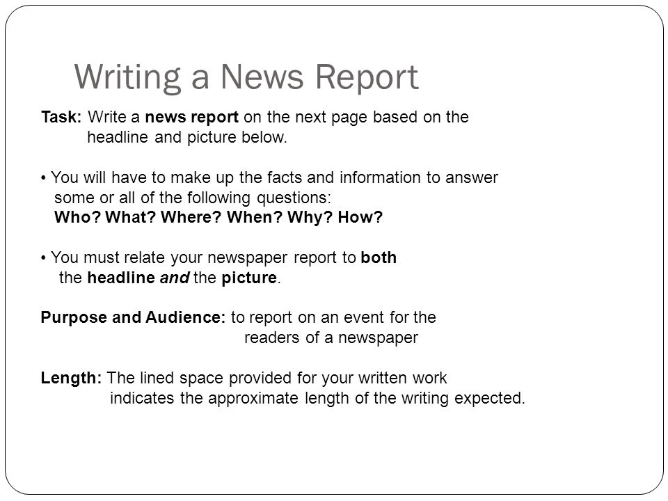 Howto Create a Written Report