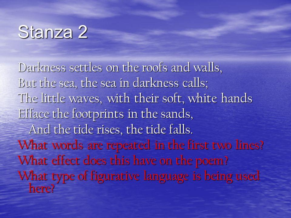 the tide rises the tide falls poem analysis