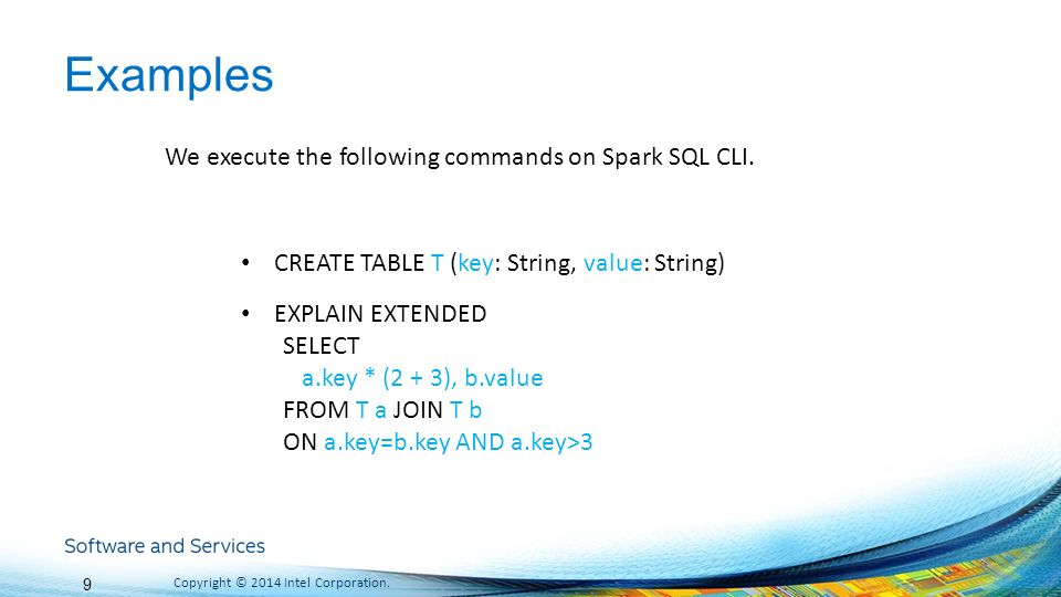 Spark SQL 漫谈 Cheng Hao Dec 13, ppt download