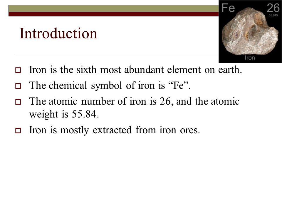 Iron Ppt Video Online Download