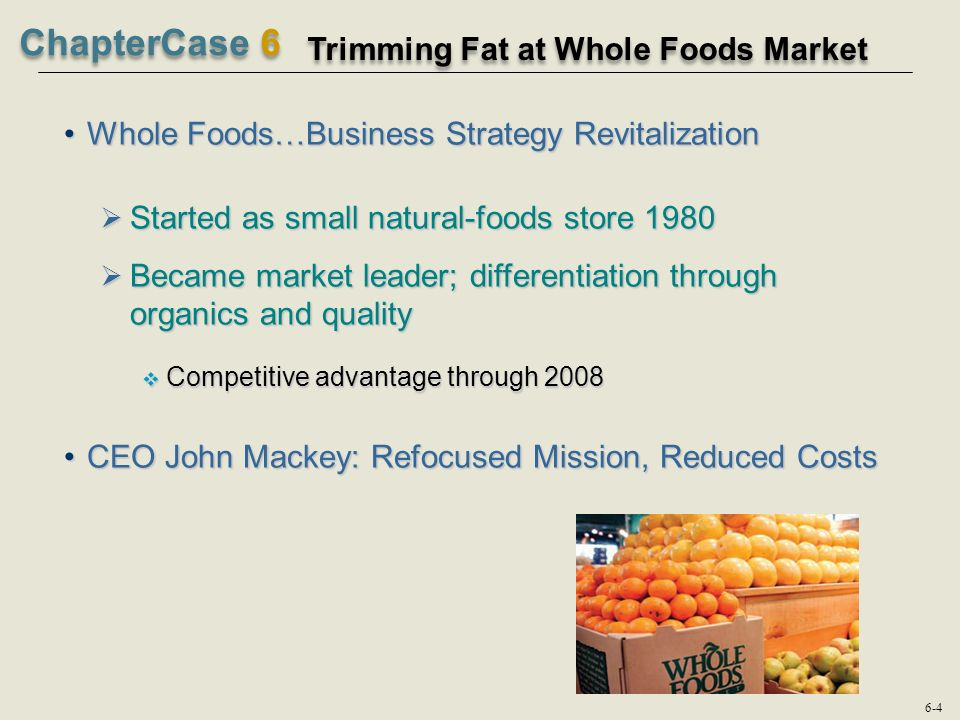 whole foods competitive advantage
