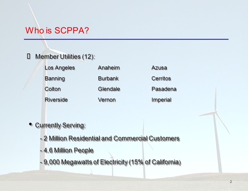 Southern California Public Power Authority's (SCPPA) - ppt