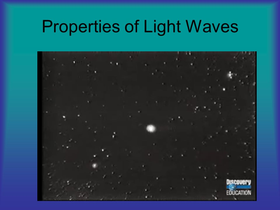 Properties of Light Waves