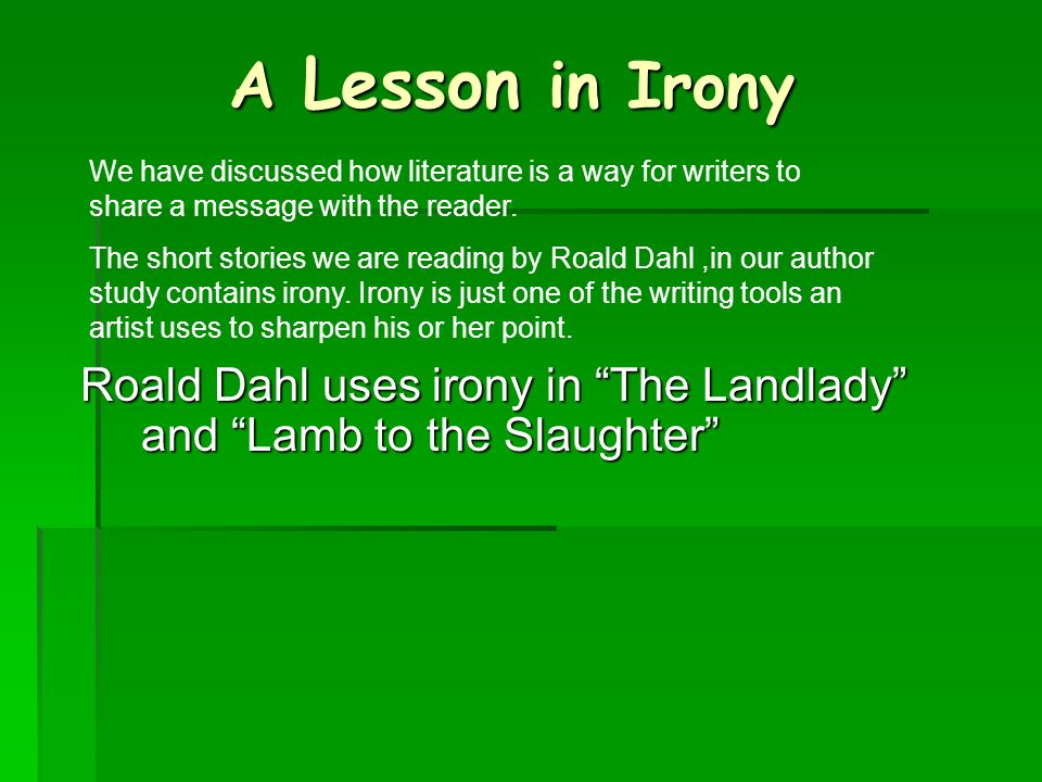 what is the purpose of irony in literature