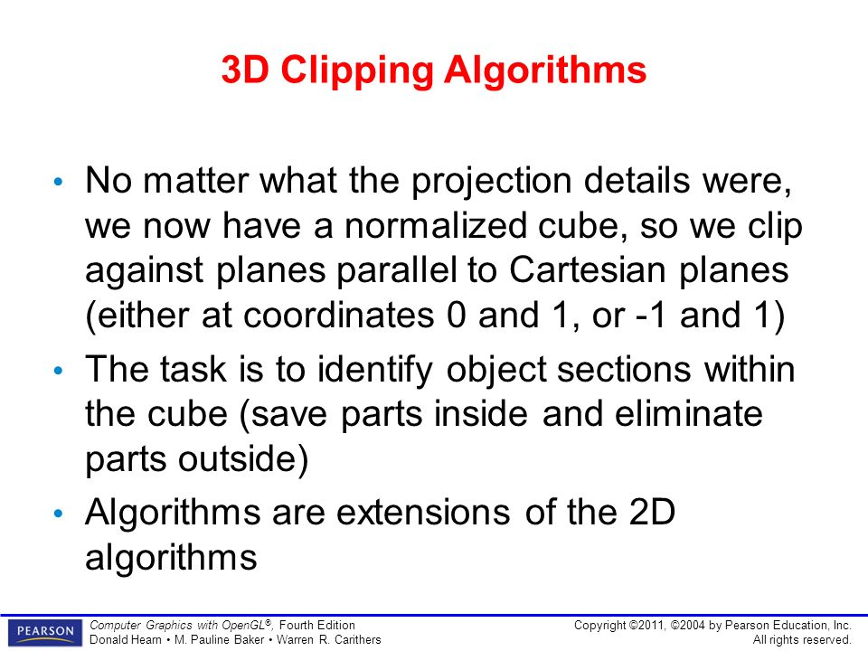 Three-Dimensional Viewing Hearn & Baker Chapter 7 - ppt