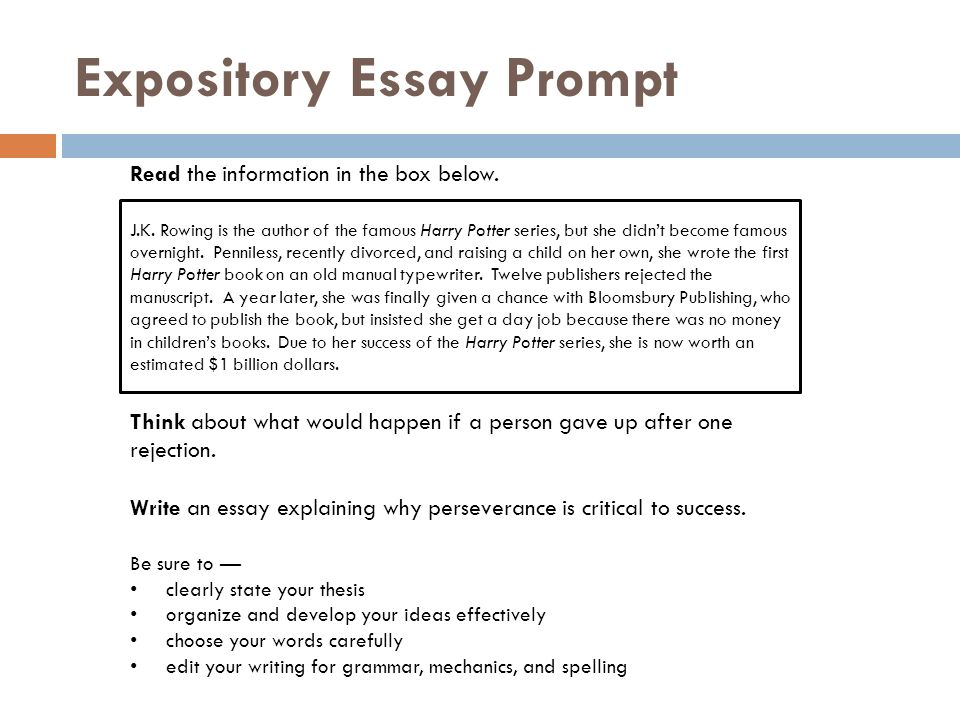 How to Publish an Expository Essay