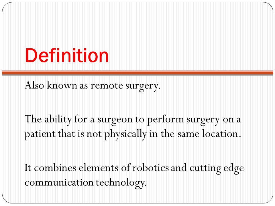 Telesurgery  - ppt video online download