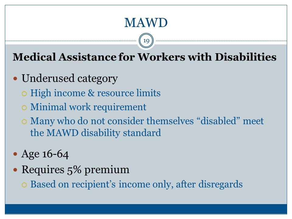 MAWD And other Disability-Related Medicaid Categories - ppt video