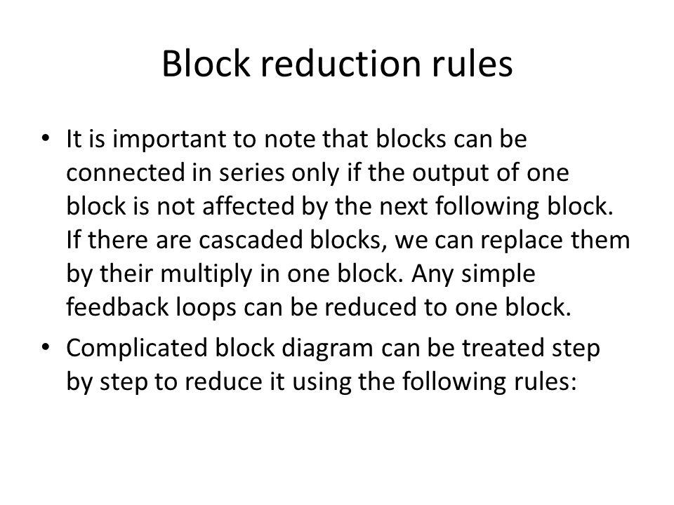 Block Diagram Reduction Ppt Video Online Download
