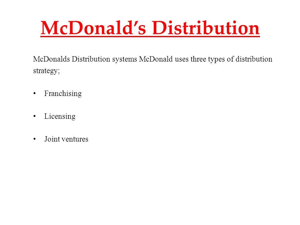mcdonalds distribution