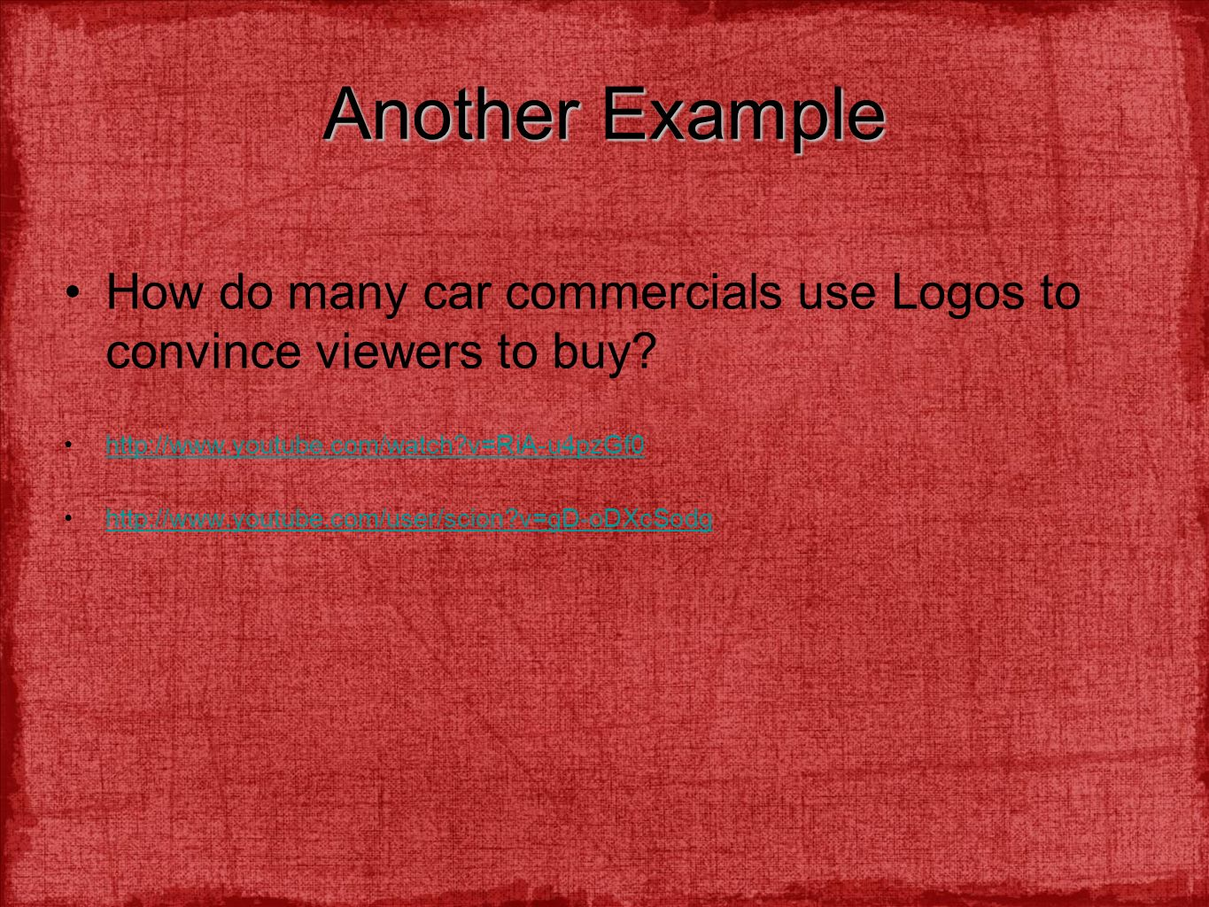 commercials that use logos