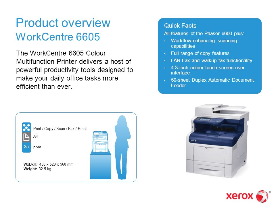 Xerox® Phaser® 6600 Printer and WorkCentre™ 6605