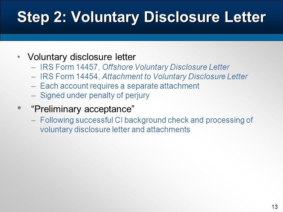 The Irss Offshore Voluntary Disclosure Program And Related