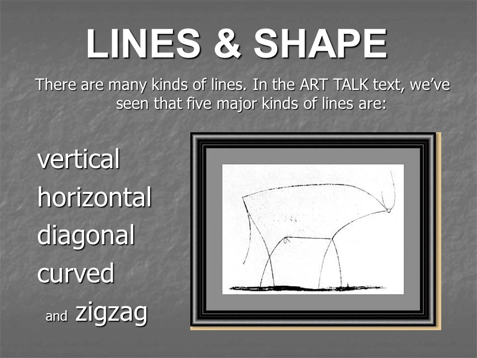 LINES & SHAPE vertical horizontal diagonal curved and zigzag