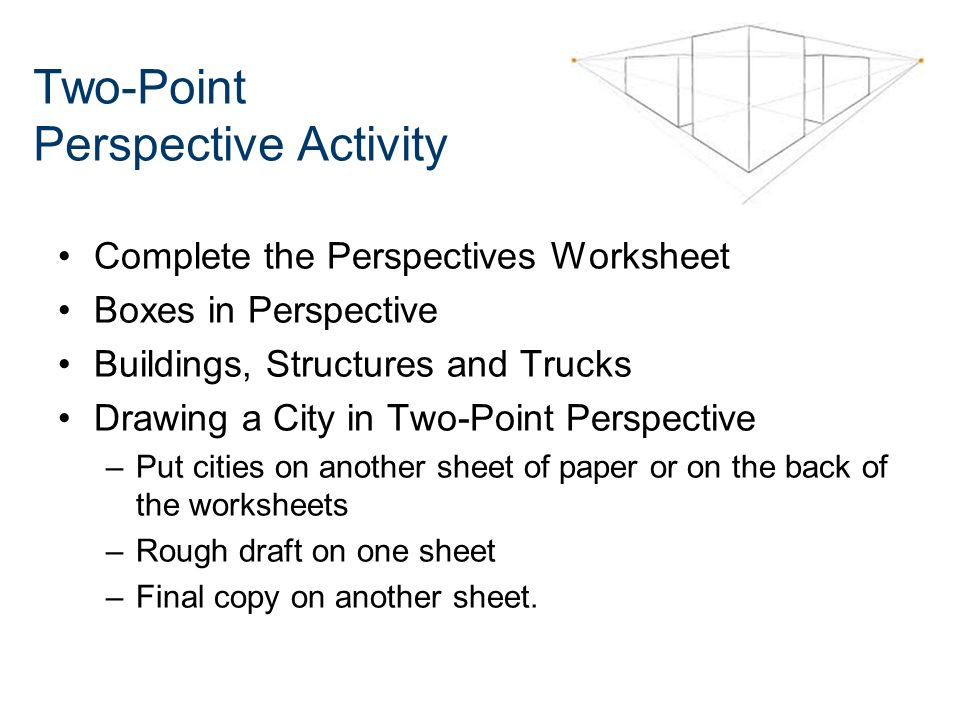 Twopoint Perspective Sketching Ppt Video Online Download. 30 Twopoint Perspective Activity. Worksheet. 2 Point Perspective Worksheet At Clickcart.co