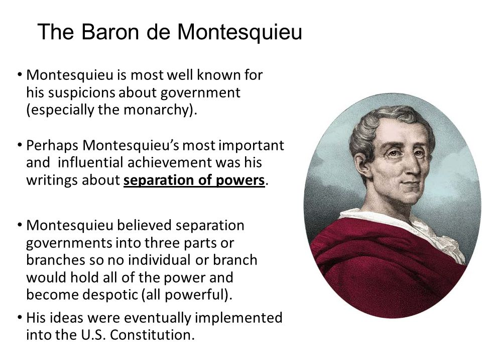 baron de montesquieu achievements