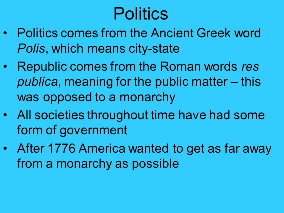 greek word for politics