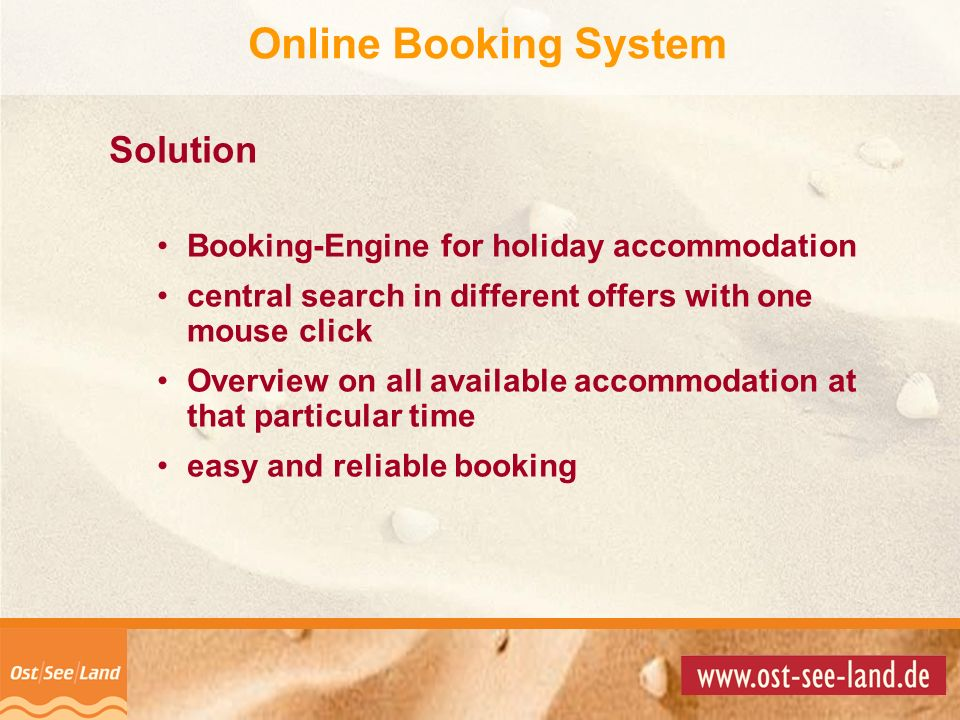 Online Booking System Solution
