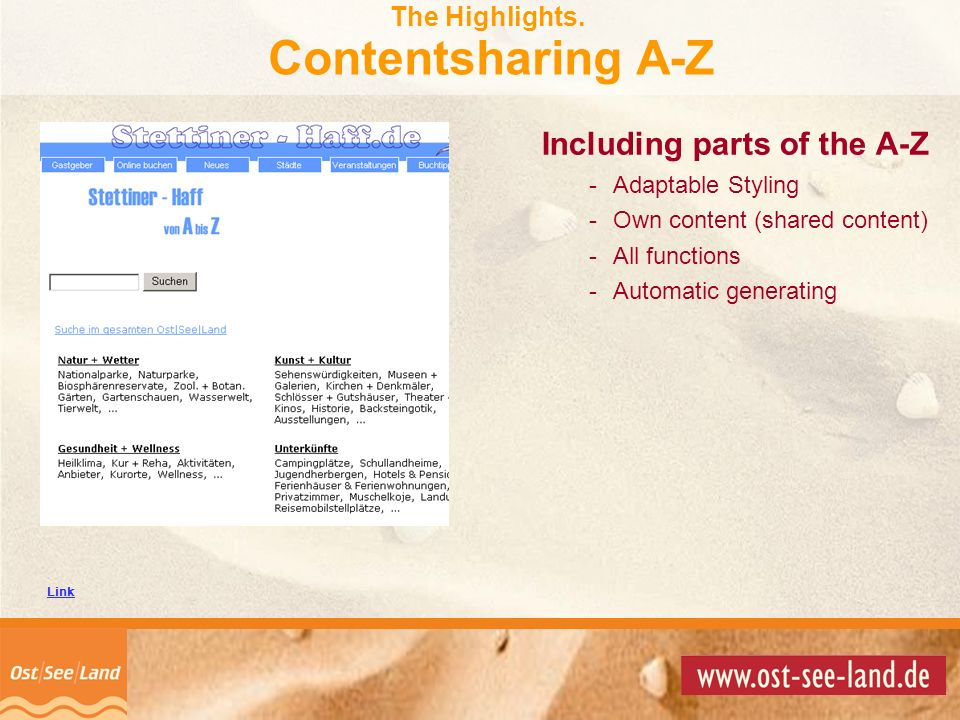 The Highlights. Contentsharing A-Z