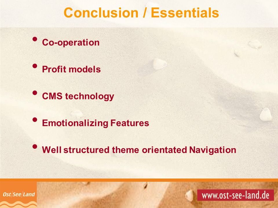 Conclusion / Essentials