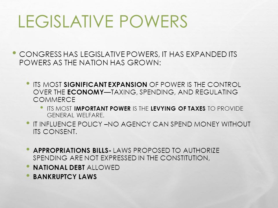 Government Ch 6 Congressional Powers Ppt Video Online Download. Legislative Powers Congress Has It Expanded Its As The Nation. Worksheet. How A Bill Bees A Law In Congress Worksheet At Mspartners.co