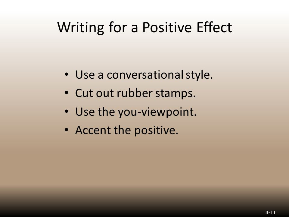writing for effect