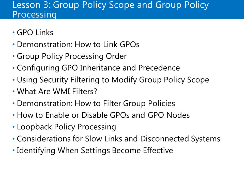 Implementing Group Policy - ppt download