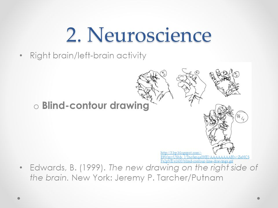 2. Neuroscience Blind-contour drawing Right brain/left-brain activity