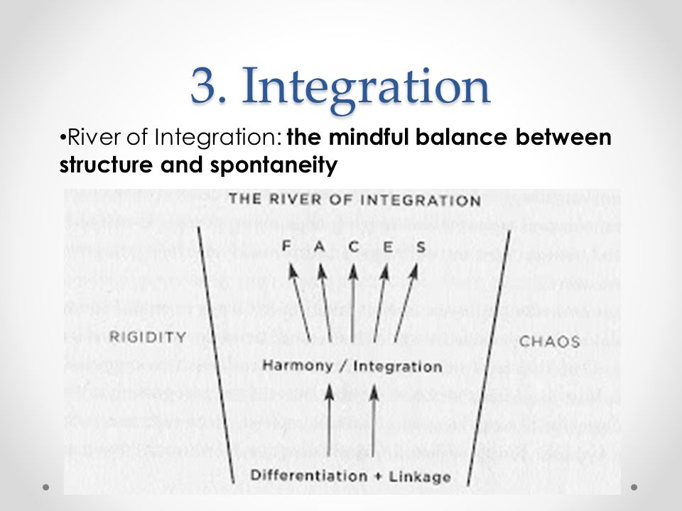 3. Integration River of Integration: the mindful balance between structure and spontaneity.