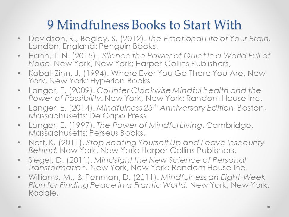 9 Mindfulness Books to Start With