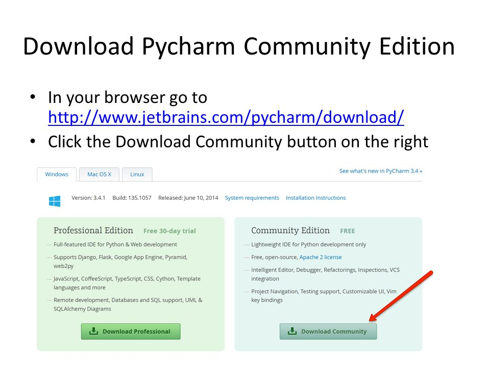 Python Interpreter and Pycharm Community Edition - ppt video online