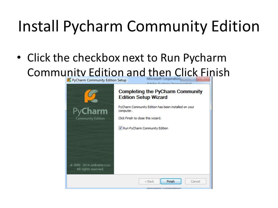 Python Interpreter and Pycharm Community Edition - ppt video