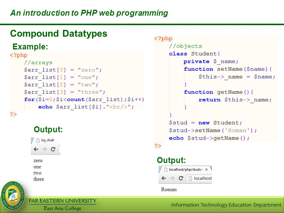 An Introduction To Php Web Programming Itwp Ppt Video Online Download