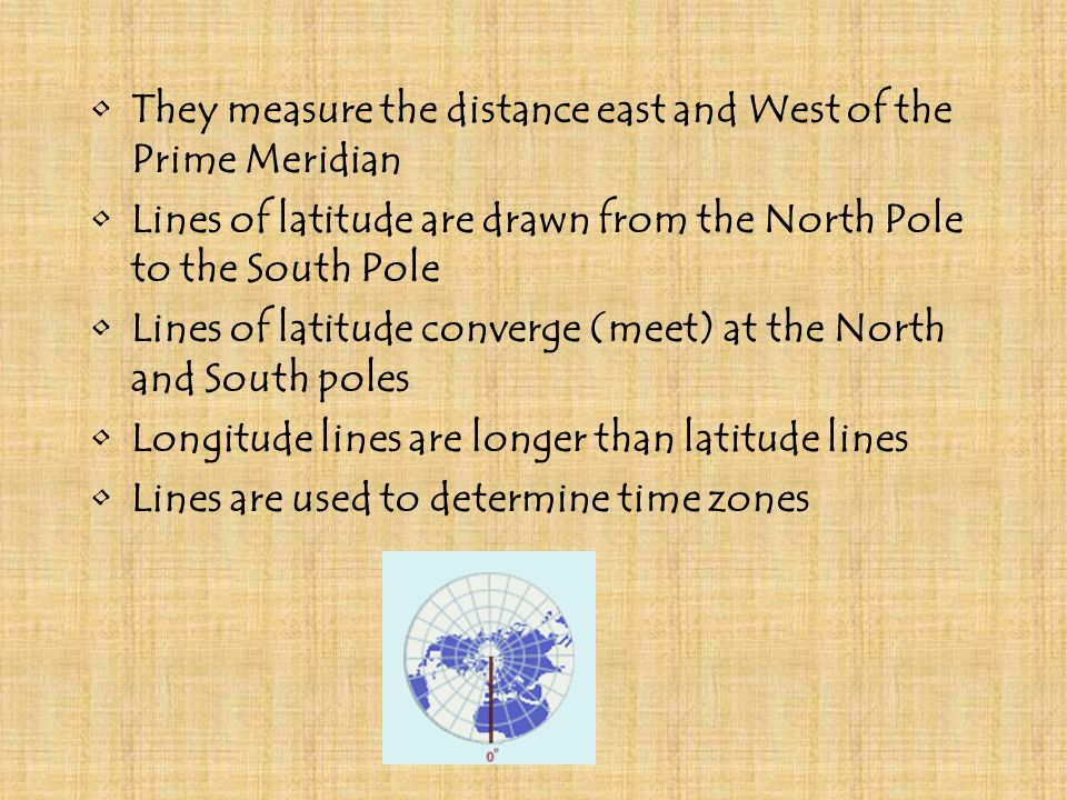 They measure the distance east and West of the Prime Meridian