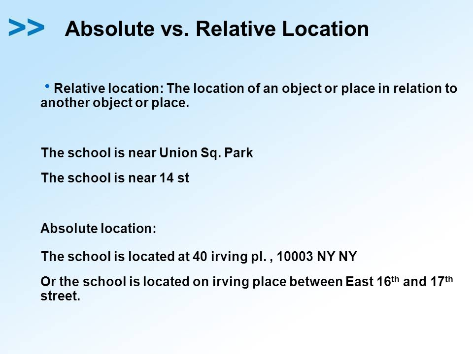 Absolute vs. Relative Location