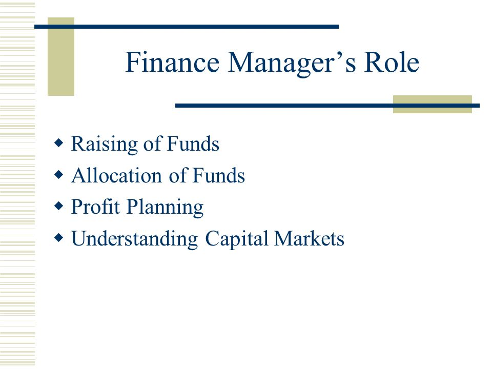 nature and role of financial markets
