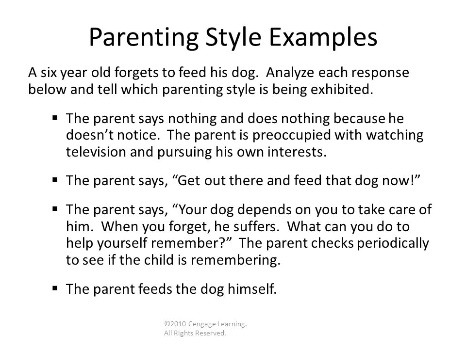 parenting styles on development essay Authoritative parenting is, by far, the most effective parenting styles because it promotes a child's ability to withstand potentially negative influences, including life stress and exposure to antisocial peers.