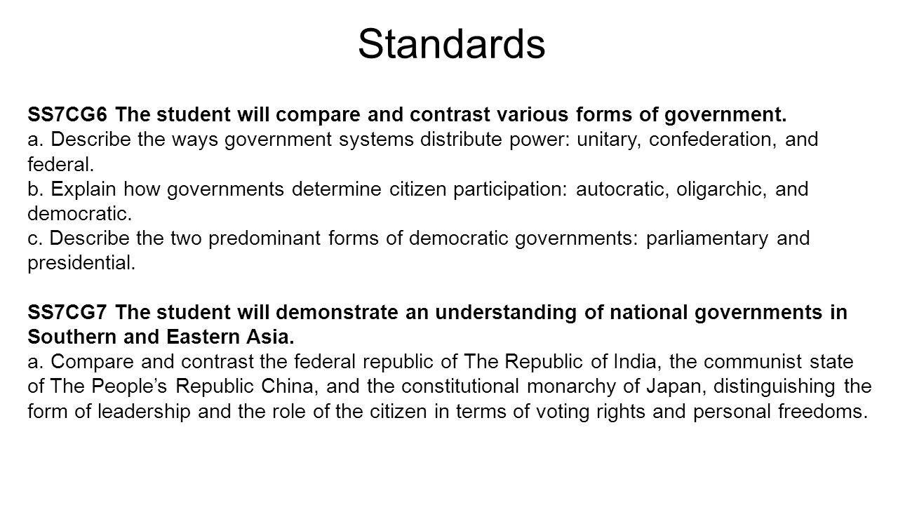 China: a form of government. Form of government in China